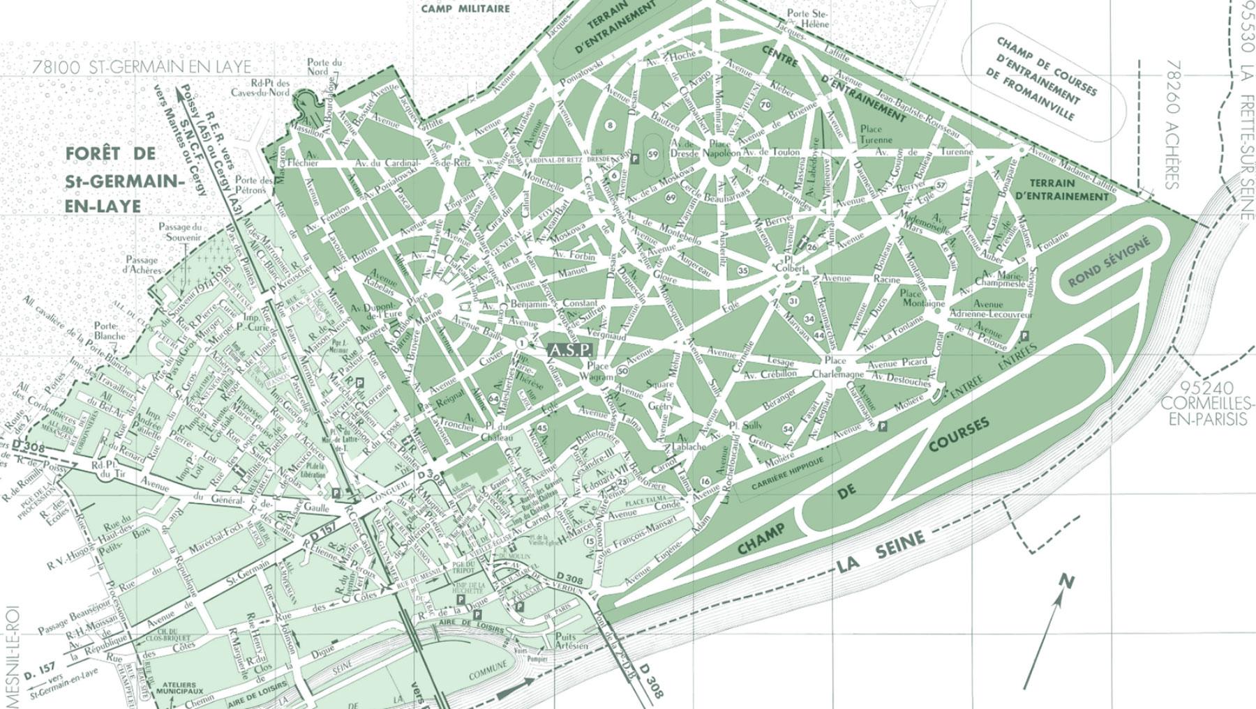 Carte Et Plan Du Parc De Maisons Laffitte