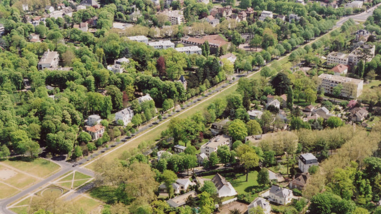 Parc de Maisons-Laffitte vue aérienne